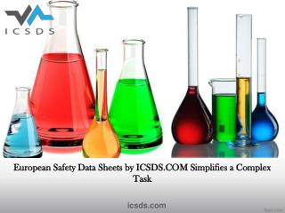 European safety data sheets by icsds.com simplifies a complex task