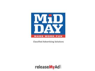 Mid Day Newspaper Classified Advertisement Booking Online