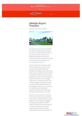 Airport TransferAdelaide