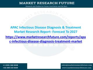 APAC Infectious Disease Diagnosis & Treatment Market Growth factors, Regional Analysis Forecast to 2027