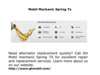 Mobil Mechanic Spring Tx