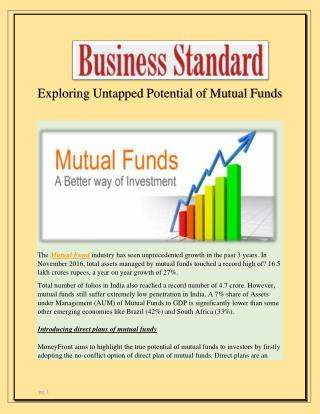 Exploring Untapped Potential of Mutual Funds