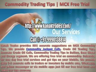 Commodity Trading Tips | Mcx Trading tips