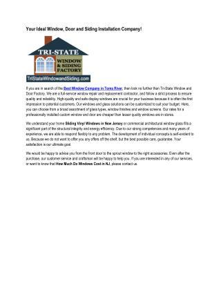 Tri-State Window and Door Factory