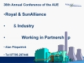 36th Annual Conference of the AUE