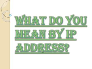 Easiest Way to Find Your IP Address