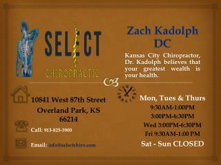 Zach Kadolph DC - Kansas City Chiropractor