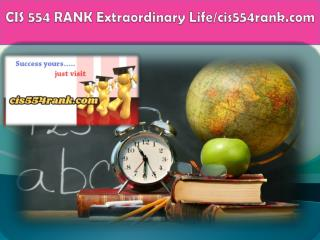 CIS 554 RANK Extraordinary Life/cis554rank.com