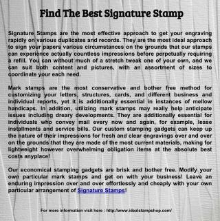 Find The Best Signature Stamp