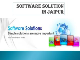Find Software Solution In Jaipur