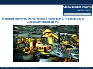 Industrial Machinery Market in packaging machinery industry to reach $65bn by 2024