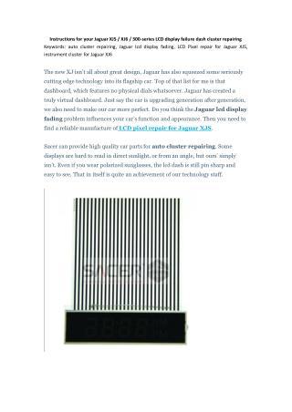 Instructions for your Jaguar XJS / XJ6 / 300-series LCD display failure dash cluster repairing