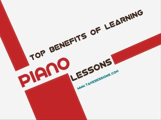Top Benefits of Learning Piano Lessons