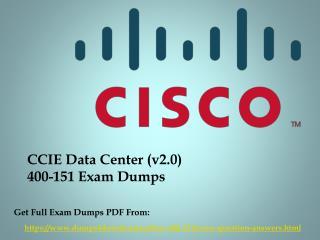 New Cisco 400-151 Exam Dumps Questions - Dumps4Download.us