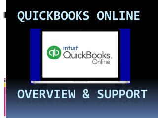 QUickBooks online- overview & support