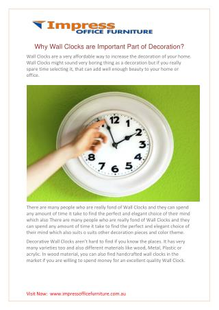 Why wall clocks are important part of decoration?
