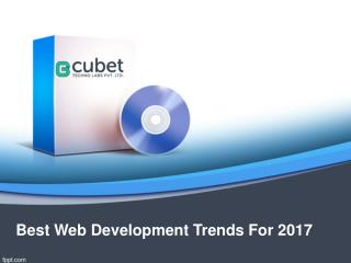 Best Web Development Trends For 2017