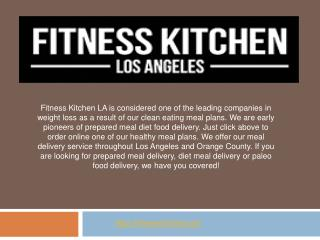 Meal Delivery Plans Pricing - LA - San Diego