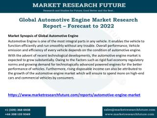 Global Automotive Engine Market Research Report – Forecast to 2022