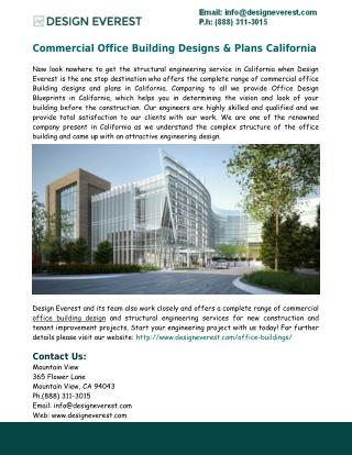 Office Building Designs & Plans California - Design Everest