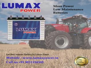 Get Best Inverter Battery by Lumax Power - 9811154385