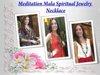 Meditation Mala Spiritual Jewelry Necklace