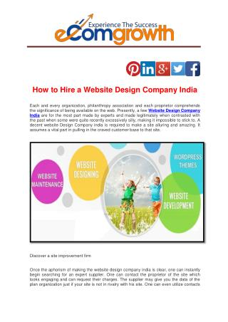 How to Hire a Website Design Company India