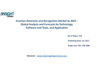 Emotion Detection and Recognition Market Global Analysis & 2025 Forecast Report |The Insight Partners