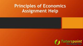 Principles of Economics Assignment Help