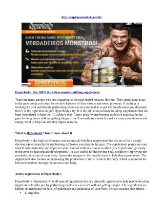 Hyperbody  get 100% risk free muscle building supplement