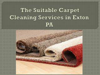 The Suitable Carpet Cleaning Services in Exton PA