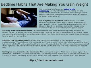 5 Bedtime Habits That Are Making You Gain Weight