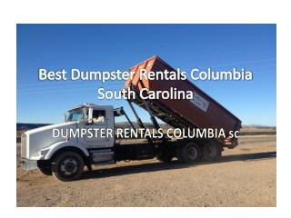 Best Dumpster Rentals in Columbia South Carolina