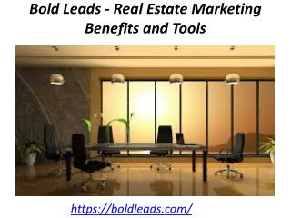 Bold Leads - Real Estate Marketing Benefits and Tools