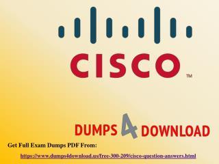 Download Free Cisco 300-209 Dumps Sample Questions