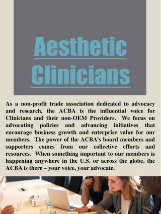 Aesthetic trade association