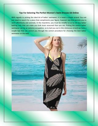 Tips For Selecting The Perfect Women's Swim Dresses Uk Online