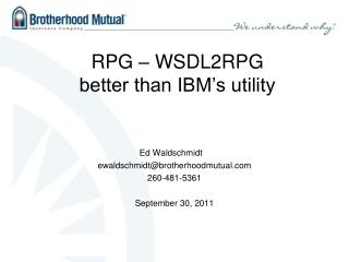 RPG   WSDL2RPG better than IBM s utility