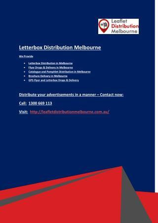 Unbundled Letterbox Distribution in Melbourne