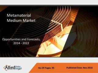 Metamaterial Medium Market is expected to reach $1,387 million by 2022