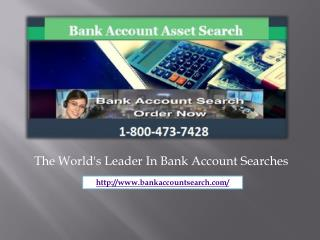 A Professional Approach to Find Hidden Bank Accounts