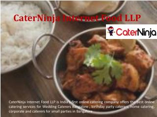 Cater Ninja - Wedding Caterers Bangalore