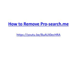 How to Remove Pro-search.me