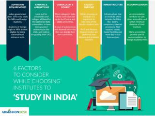 6 factors to consider while choosing Institutes to 'Study in India'