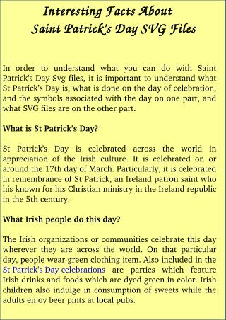 Know About Amazing Facts of St. Patrick's Day