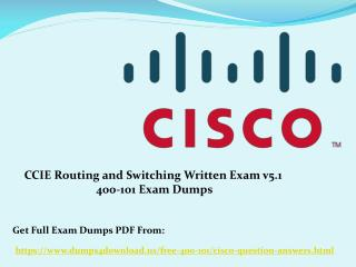 How Can You Prepare Cisco 400-101 Exam - Updated Dumps