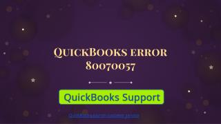 QuickBooks error 80070057| Get instant help support