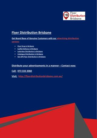 Letterbox Distribution in Brisbane to Achieve Your Marketing Goals