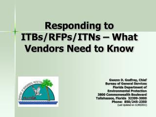 Responding to ITBs