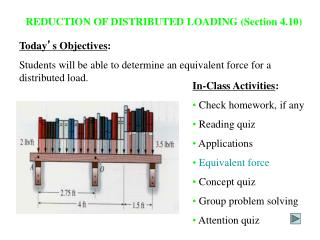 REDUCTION OF DISTRIBUTED LOADING Section 4.10